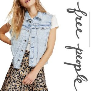 New with tags: Free People Zoe Vest, Ain't Nobody